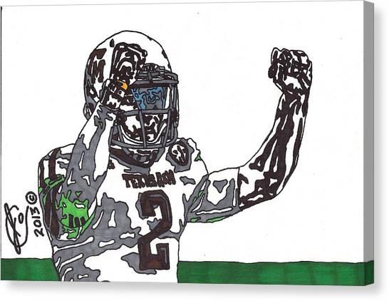 Johnny Manziel Canvas Print - Johnny Manziel 3 by Jeremiah Colley