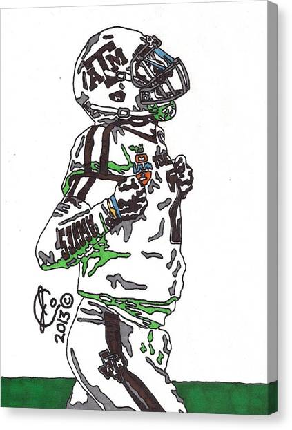 Johnny Manziel Canvas Print - Johnny Manziel 4 by Jeremiah Colley