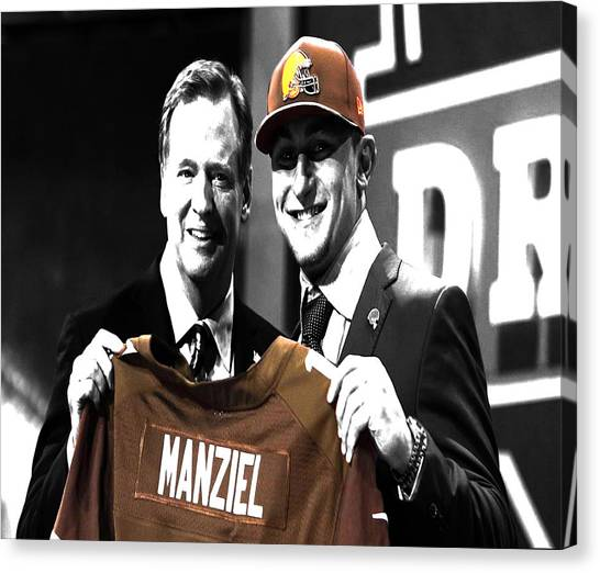Johnny Manziel Canvas Print - Johnny Manziel  by Brian Reaves