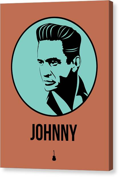 Johnny Cash Canvas Print - Johnny Poster 1 by Naxart Studio