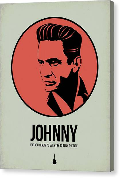 Rock Music Canvas Print - Johnny Poster 2 by Naxart Studio