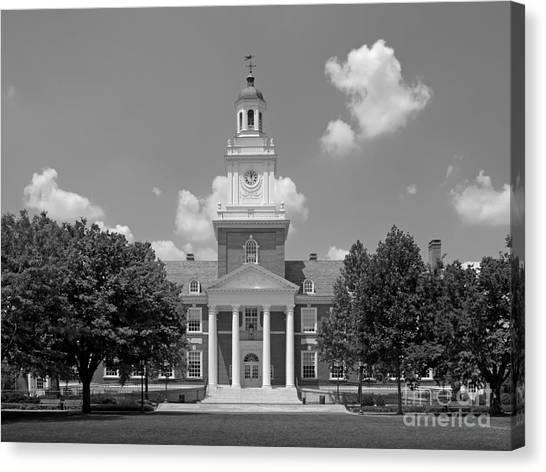 Johns Hopkins University Canvas Print - Johns Hopkins Gilman Hall by University Icons