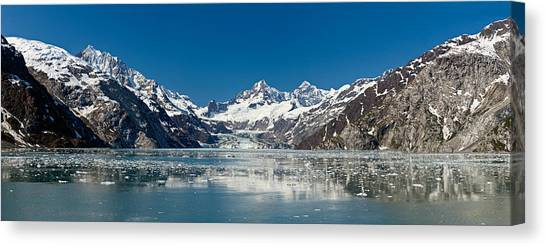 Johns Hopkins Canvas Print - Johns Hopkins Glacier In Glacier Bay by Panoramic Images