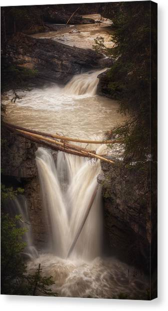 Johnston Canyon Canvas Print by Stuart Deacon