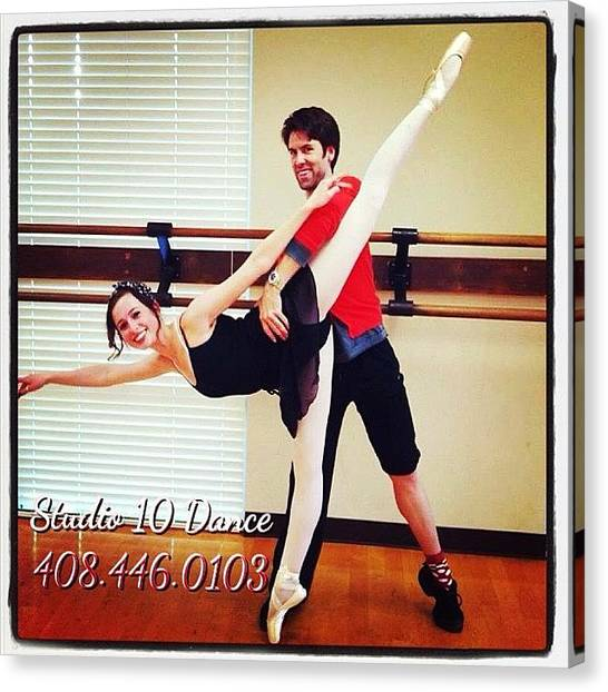 Ballet Canvas Print - Join Our Program! We've Got Something by Studio 10 Dance