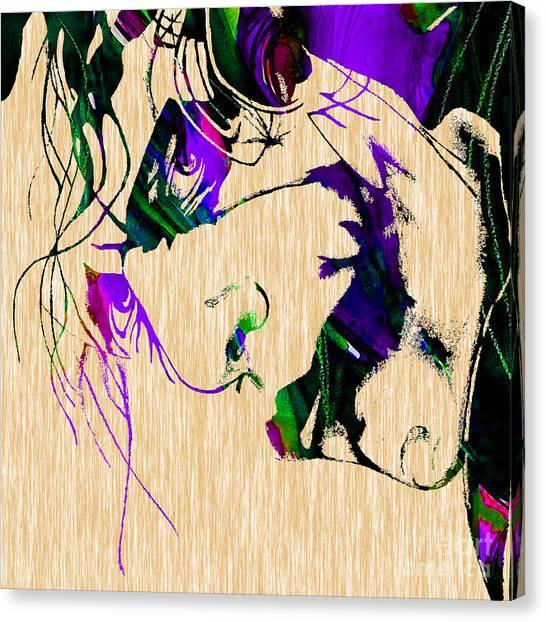 Heath Ledger Canvas Print - Joker Collection by Marvin Blaine