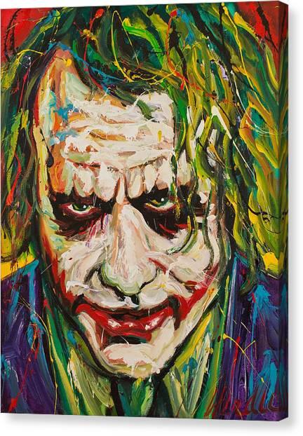 Heath Ledger Canvas Print - Joker by Michael Wardle
