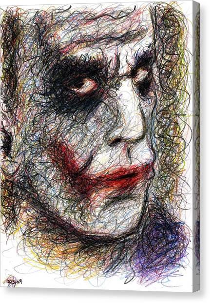 Joker - Pout Canvas Print