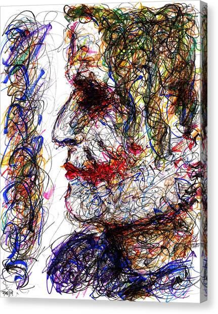 Joker - Profile Canvas Print