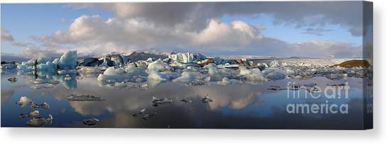 Jokulsarlon Glacier Lagoon Panorama Canvas Print