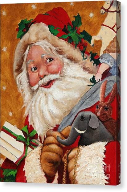 Jolly Santa Canvas Print