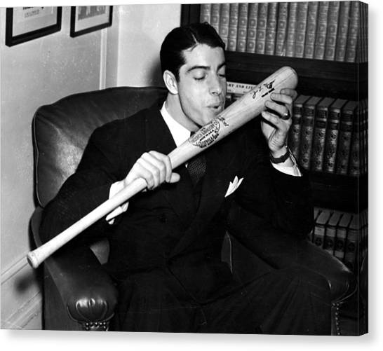 Joe Dimaggio Canvas Print - Joltin' Joe by Benjamin Yeager