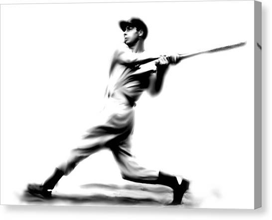 Joe Dimaggio Canvas Print - Joltin Joe Dimaggio  Joe Dimaggio by Iconic Images Art Gallery David Pucciarelli