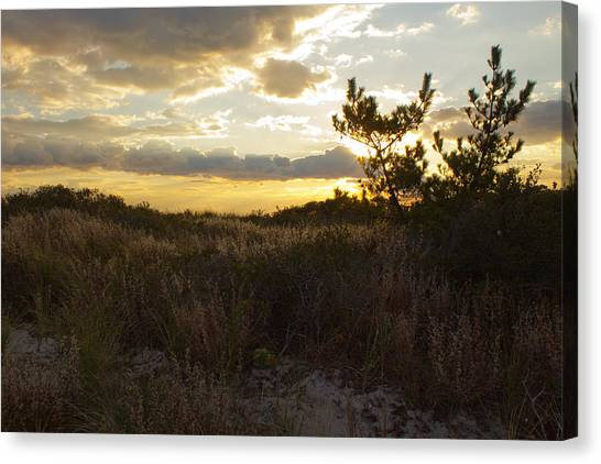 Jones Beach Sunset Four Canvas Print
