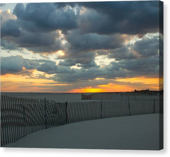 Jones Beach Sunset Three Canvas Print