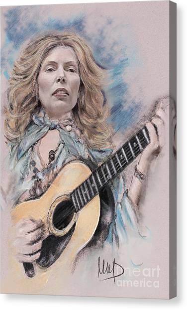 Joni Mitchell Canvas Print - Joni Mitchell by Melanie D