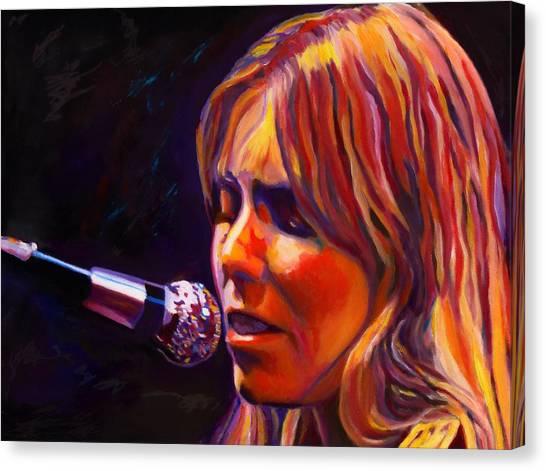 Joni Mitchell Canvas Print - Joni Mitchell..legend by Vel Verrept