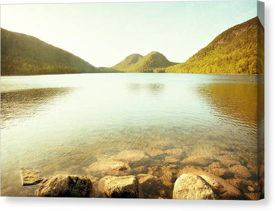 River Jordan Canvas Print - Jordan Pond by Carolyn Cochrane