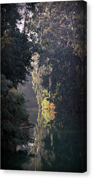 River Jordan Canvas Print - Jordan River At Yardinet by Stephen Stookey
