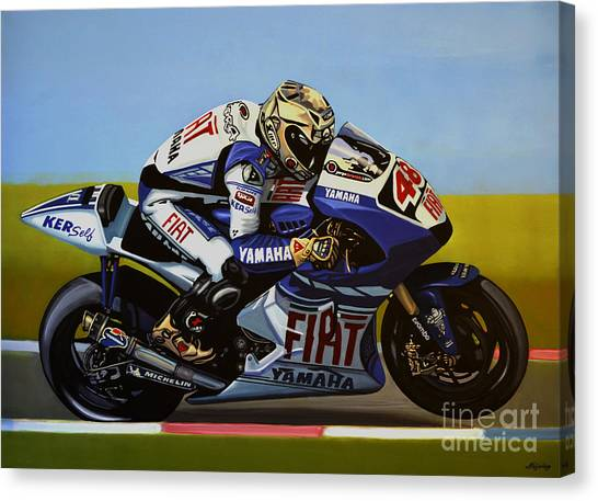 Yamaha Canvas Print - Jorge Lorenzo by Paul Meijering