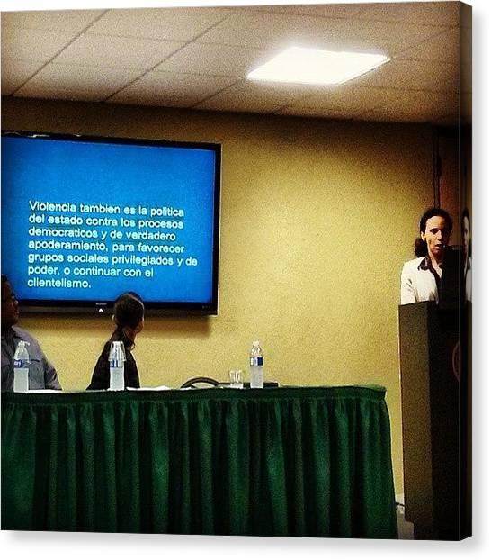 Presentations Canvas Print - Jornada De Debates Sociológicos Sobre by Jason Velez