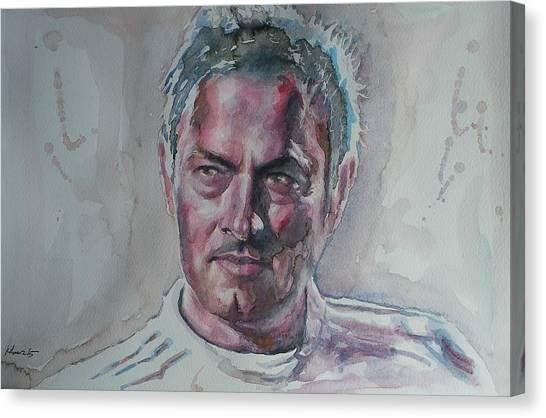 Chelsea Fc Canvas Print - Jose Mourinho - Portrait 1 by Baris Kibar
