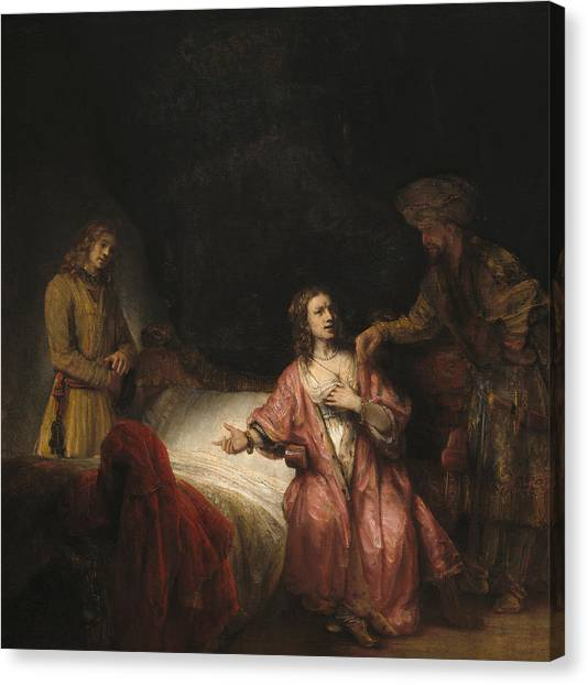 Accused Canvas Print - Joseph Accused By Potiphar's Wife by Rembrandt