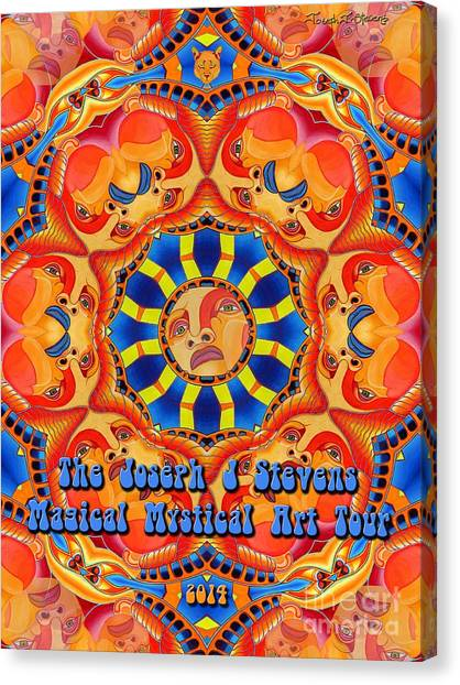 Joseph J Stevens Magical Mystical Art Tour 2014 Canvas Print