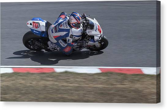 Suzuki Canvas Print - Josh Brookes by Nigel Jones