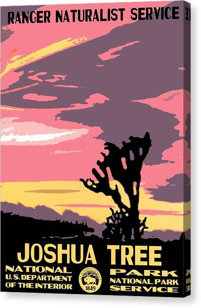 Joshua Tree National Park Vintage Poster Canvas Print