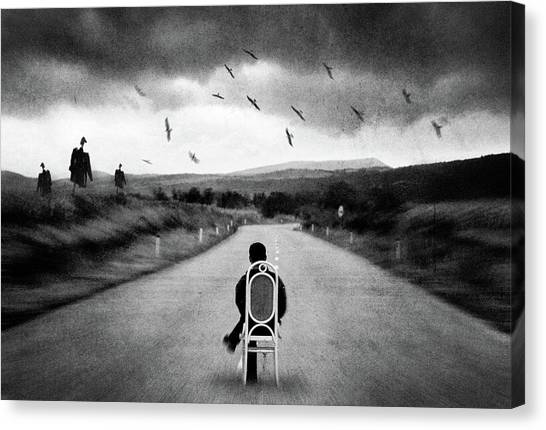 Scarecrows Canvas Print - Journey Into The Unknown by Dragan Ristic