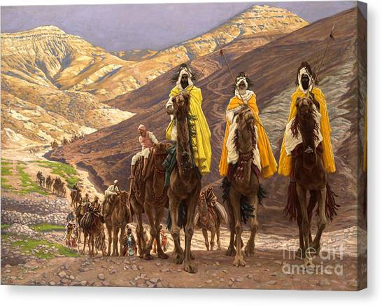 Biblical Canvas Print - Journey Of The Magi by Tissot