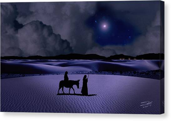 Journey To Bethlehem Canvas Print