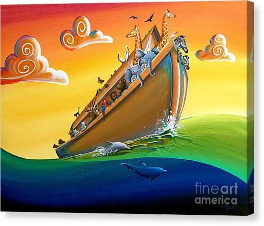 Noah Canvas Print - Noah's Ark - Journey To New Beginnings by Cindy Thornton