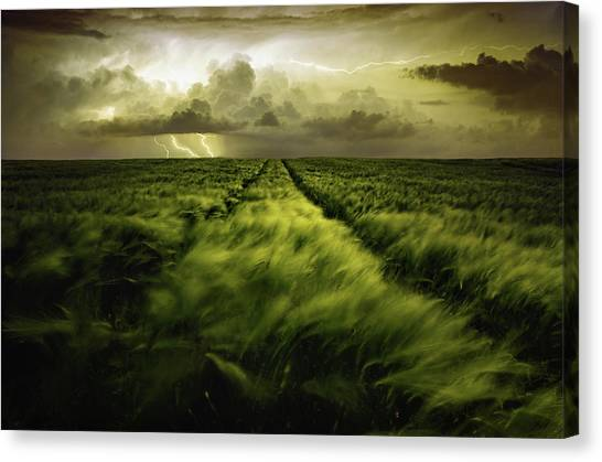Storm Clouds Canvas Print - Journey To The Fierce Storm by Sona Buchelova