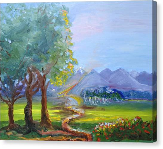 Journey With God  Canvas Print by Patricia Kimsey Bollinger