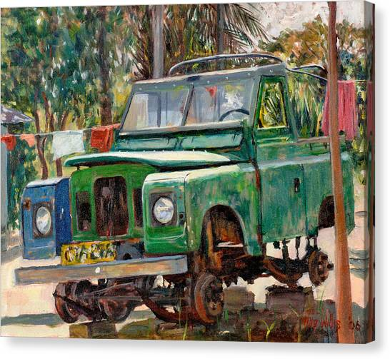 Jeep Canvas Print - Journeys End, 2006 Oil On Canvas by Tilly Willis