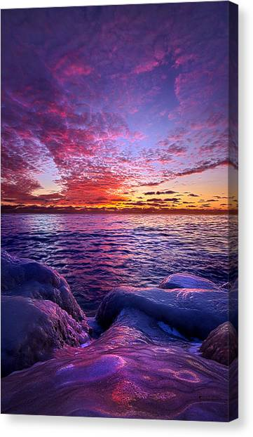 Ice Caves Canvas Print - Journey's End by Phil Koch