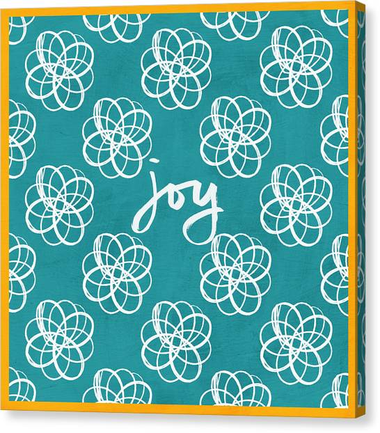 Garden Flowers Canvas Print - Joy Boho Floral Print by Linda Woods
