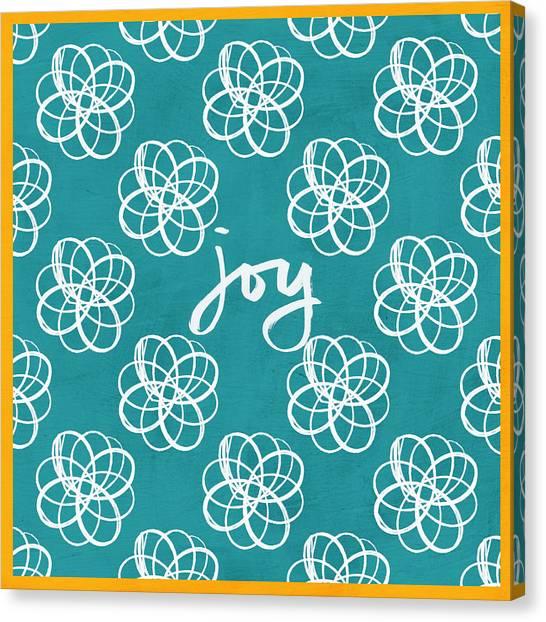 Diamonds Canvas Print - Joy Boho Floral Print by Linda Woods