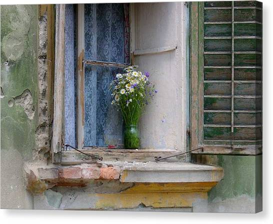 Joy In The Window Canvas Print