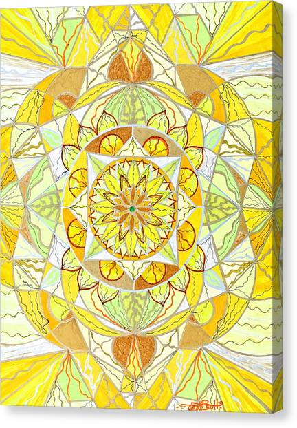 Mandala Canvas Print - Joy by Teal Eye  Print Store