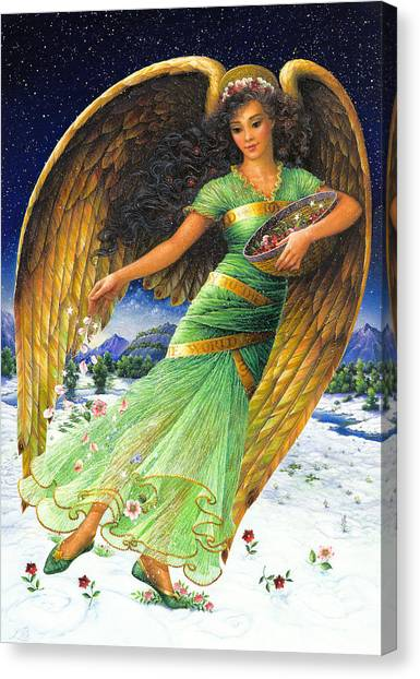 Angel Canvas Print - Joy To The World by Lynn Bywaters