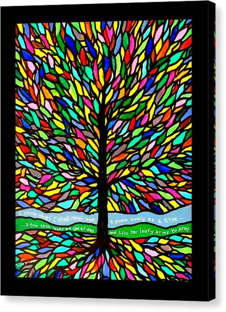 Joyce Kilmer's Tree Canvas Print