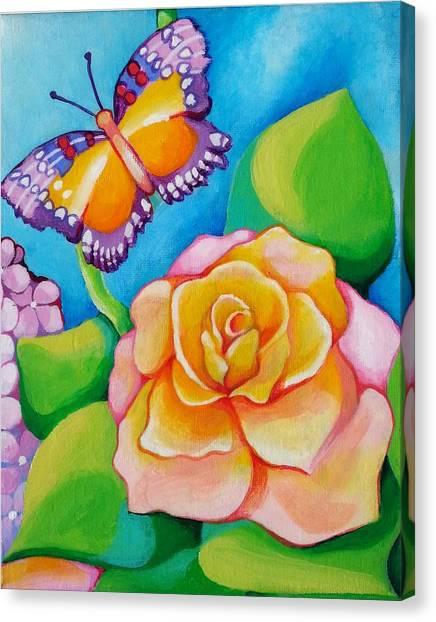 Joyful Garden #3 Lower Right Panel Canvas Print