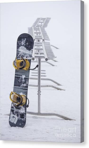 Snowboarding Canvas Print - Joyride by Evelina Kremsdorf
