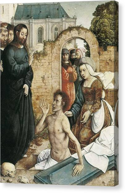 St Lazarus Canvas Print - Juan De Flandes  -1519. The by Everett