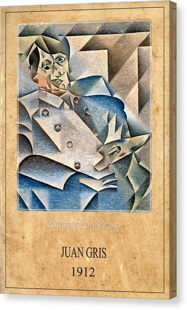 Pablo Picasso Canvas Print - Juan Gris 1 by Andrew Fare