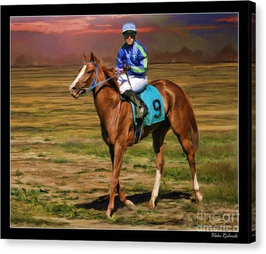 Juan Hermandez On Horse Atticus Ghost Canvas Print
