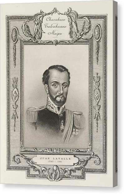 American Independance Canvas Print - Juan Lavalle by British Library